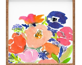 Floral Frenzy Square Tray