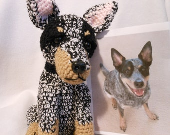 Crochet Dog Custom Made to Look Like Owner's Dog, Canine, Look Alike Dog, Pet Memorial, Stuffed Dog, Pet Remembrance, Dog Lover