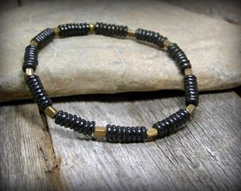 Mens Beaded Bracelet, Stretch Bracelet, Bracelet for Men, Mens Fashion,  Bone Bracelet, Southwest Bracelet, Mens Jewelry, Stack Bracelet