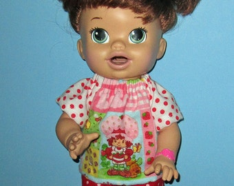 Snackin Sara, Baby Alive, Strawberry Shortcake, Pajamas,   Fits 15 16 Inch Doll,  15 16 inch    Doll Clothes