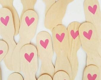 10 heart ice cream paddles