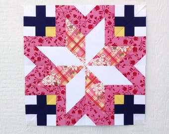 Paper Piecing - Gemini #241 - Zodiac Block of the Month - 3 sizes
