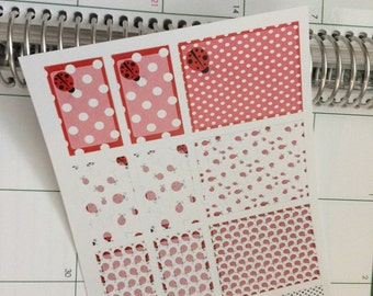 Full Box Lady Bug Stickers Half Box Lady Bug Stickers Perfect for Erin Condren Life Planner & Other Planners