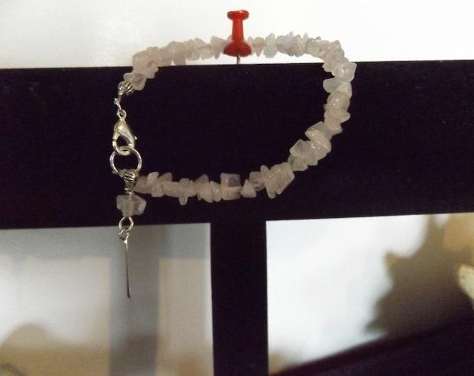 Rose Quartz Crystal Bracelet, Crystal Bracelet, Crystal Jewelry, Spiritual Jewelry, Chakra Stone, Mystical Jewelry