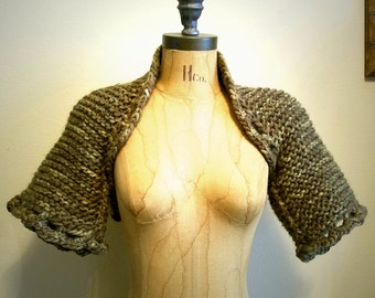 Wildling Knit Hand Knit Shrug Size Medium Ready to Ship