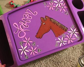 Hand Painter Horse Lap Tray
