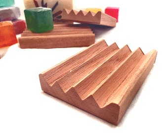 2 cedar soap dishes - NEW PRODUCT -  modified version of my Boardwalk Soap Dish