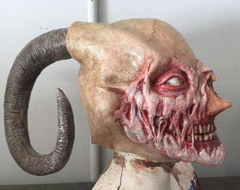Halloween Latex Demon Satan Devil Mask