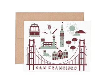 San Francisco Letterpress Greeting Card - Blank Card | Greeting Cards |