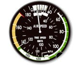 Aviation Airspeed Indicator Wall Plaque