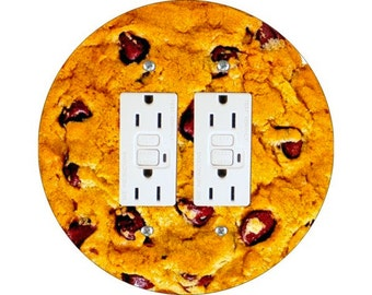 Chocolate Chip Cookie Double GFI Outlet Plate Cover