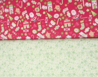 Red Green Christmas Half Yard Fabric Bundle - Riley Blake