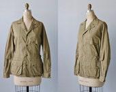 Vintage LL Bean Safari Utility Hunting Shooting Jacket /  Khaki Shirt Jacket / Rolled Tab Sleeves / Womens Hunting Shooting Coat Jacket