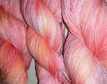 Back to school SALE 10% OFF- Belladonna- 100 Organic Cotton, Hand Dyed, Bulky Weight Variegated Yarn