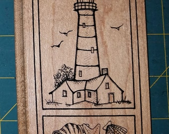 Two Rubber Stamps - Lighthouse and a Sailboat - Gently used