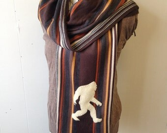 Bigfoot Striped Scarf