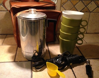 NEW Travel Electric Coffee Percolator Kit by Metal Ware