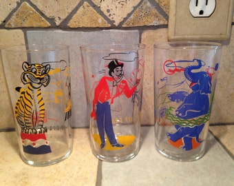 3 Under the Big Top Circus Tumblers by Libby