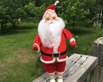 Vintage Santa Claus Doll--Hanging Santa Ornament--Retro Christmas Decoration--Standing Santa Claus--Fun Kitschy Christmas Noel