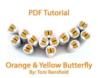 Orange and Yellow Butterfly Tutorial