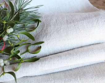 R 535:  handloomed antique linen plain,NATURAL CREAMY 19.67yards 리넨 french lin curtain panel;  wedding, tablecloth, upholstery, roman blinds