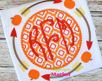 Machine Embroidery Design Embroidery Tribal Arrow Frame Pumpkin INSTANT DOWNLOAD