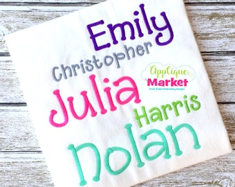 Machine Embroidery Design Applique Julia Satin Alphabet INSTANT DOWNLOAD