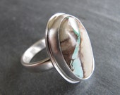 RESERVED. Ring of Royston Ribbon Turquoise and Sterling Silver