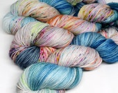 Hand Dyed  Speckled Sock Yarn - SW Sock 80/20 - Superwash Merino Nylon - 400 yards  - Orion