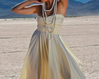Ivory Wedding Dress - Short Wedding Dress  ... 37 Colors... Budget Bride Elopement, Cocktail Party, Maternity Dress, Beach Wedding Dress