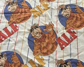 Vintage ALF bedsheet- irregular piece