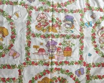 Vintage Strawberry Shortcake bedsheet