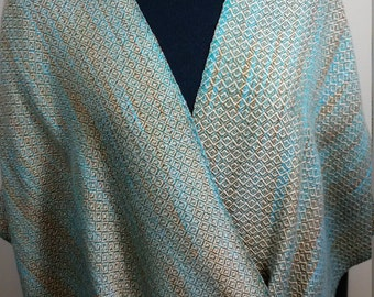 Hand Woven Tencel Moby Q Shawl