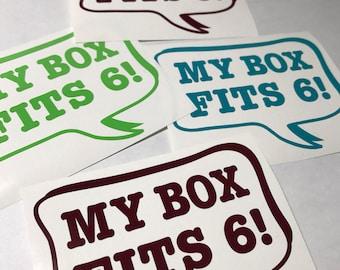 My Box Fits 6!  - Roller Derby Helmet or Window Vinyl Sticker Decal