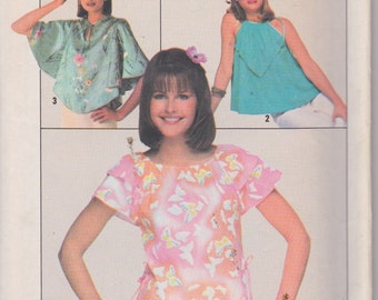 Simplicity 8062 Misses' Jiffy Pullover Tops Sizes 14, 16 Vintage UNCUT Pattern Rare and OOP 1977 Easy Pattern