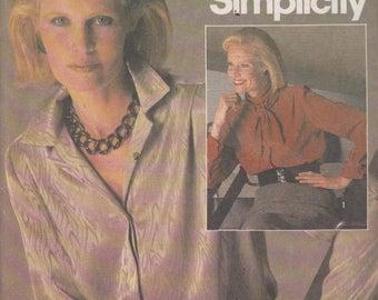 Simplicity 6587 Misses' Blouses Size 12 Connoisseur Collection Vintage UNCUT Pattern Rare and OOP 1984