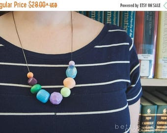 NECKLACE CLEARANCE colored pencils - necklace - vintage lucite
