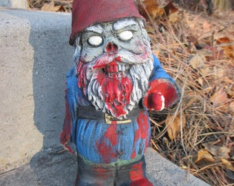 Zombie Gnome Concrete Garden Statue Walking Dead Biter Walker Undead
