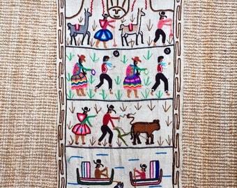 Vintage Peruvian Tapestry