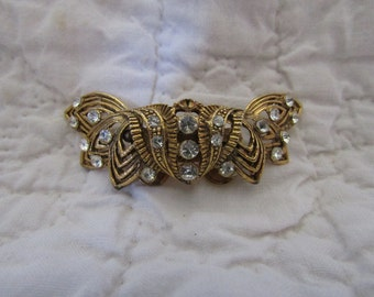 Vintage Dress or Shoe Clip Rhinestone not perfect