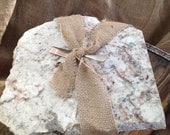 ON THE ROCKS granite stoneware- cutting board, trivet, chill to use as serving piece- amazing gift