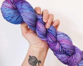 Smushed Blueberries - Hand dyed 4ply/sock yarn 100g/400m superwash merino, nylon blend