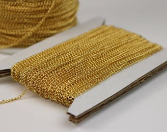 NEWnew 10 ft Gold Plated Solder LARGE Link Curb Chain  - 1.6mmx2.0mm SOLDERED Link