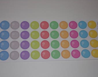 Colorful Small Circle Stickers / Great Stickers for your Erin Condren Life Planner / Scrapbooking / Crafting