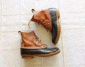 vintage Men's LL Bean Boot / Maine Hunting Shoe / leather and rubber duck shoes Sz 8