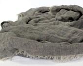 Grey Linen scarf * Large Men Scarf * Unisex Linen Shawl / Wrap * Natural Undyed Flax Scarf * Woman Scarves * Pure 100% Linen accessories