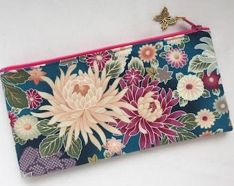 Chrysanthemum Zipper Pouch / Cosmetic Purse