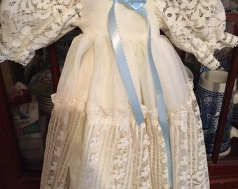 Christening gown small doll