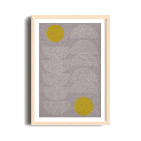 QUEUE LEU LEU // Poster, Abstract art, 24x36, minimalist art print, geometric print, mid century, Scandinavian style, half cercle, pastel
