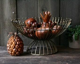 Mid Century Modern Hand Made Brass Bowl Star Burst Bohemian Decor Vintage From Nowvintage on Etsy